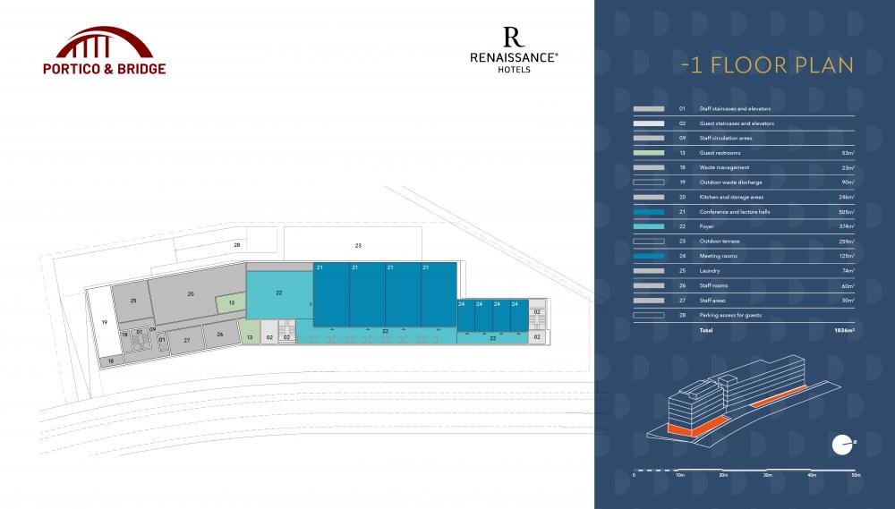 Portico and Bridge - Golden Visa - Marriott -1 floor plan