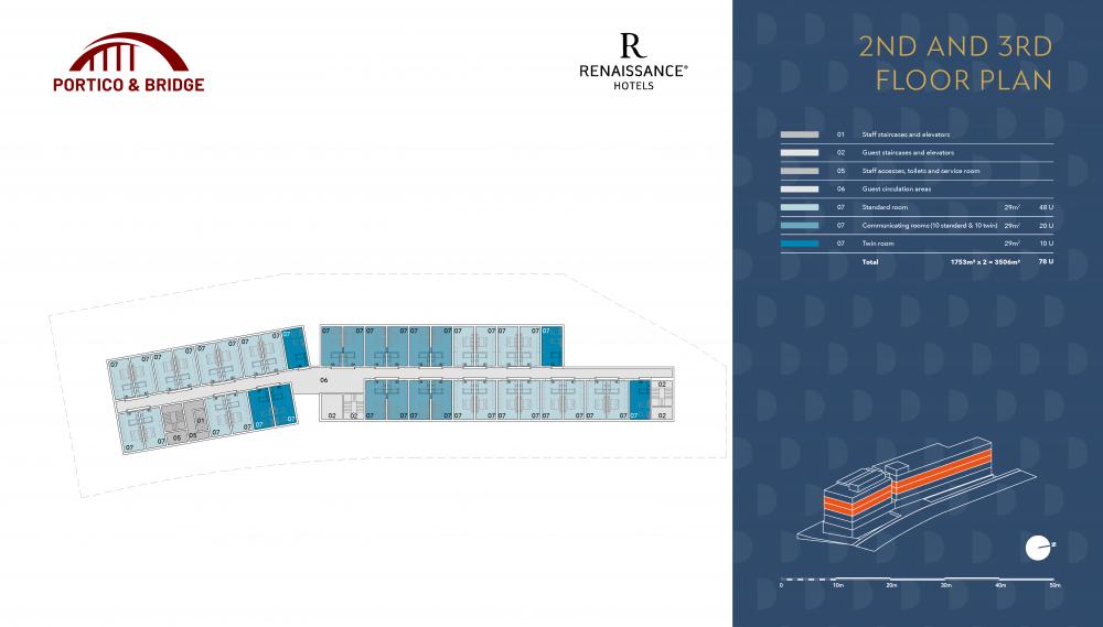 Portico and Bridge - Golden Visa - Marriott 2nd and 3rd floor plan