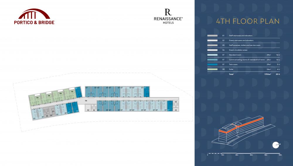 Portico and Bridge - Golden Visa - Marriott 4th floor plan