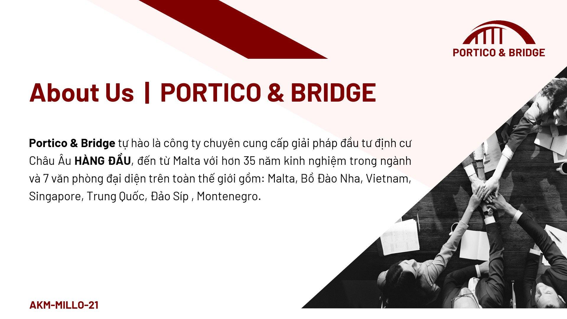 Portico & Bridge - công ty định cư di trú hàng đầu Châu Âu